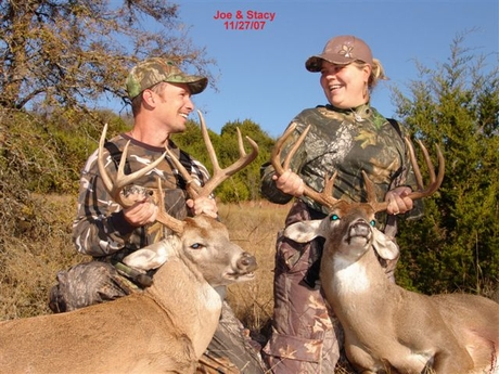 Honeymoon Hunters Bag Their Whitetail Bucks