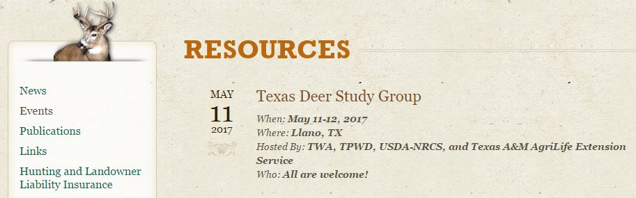 Texas Deer Study Group Annual Meeting