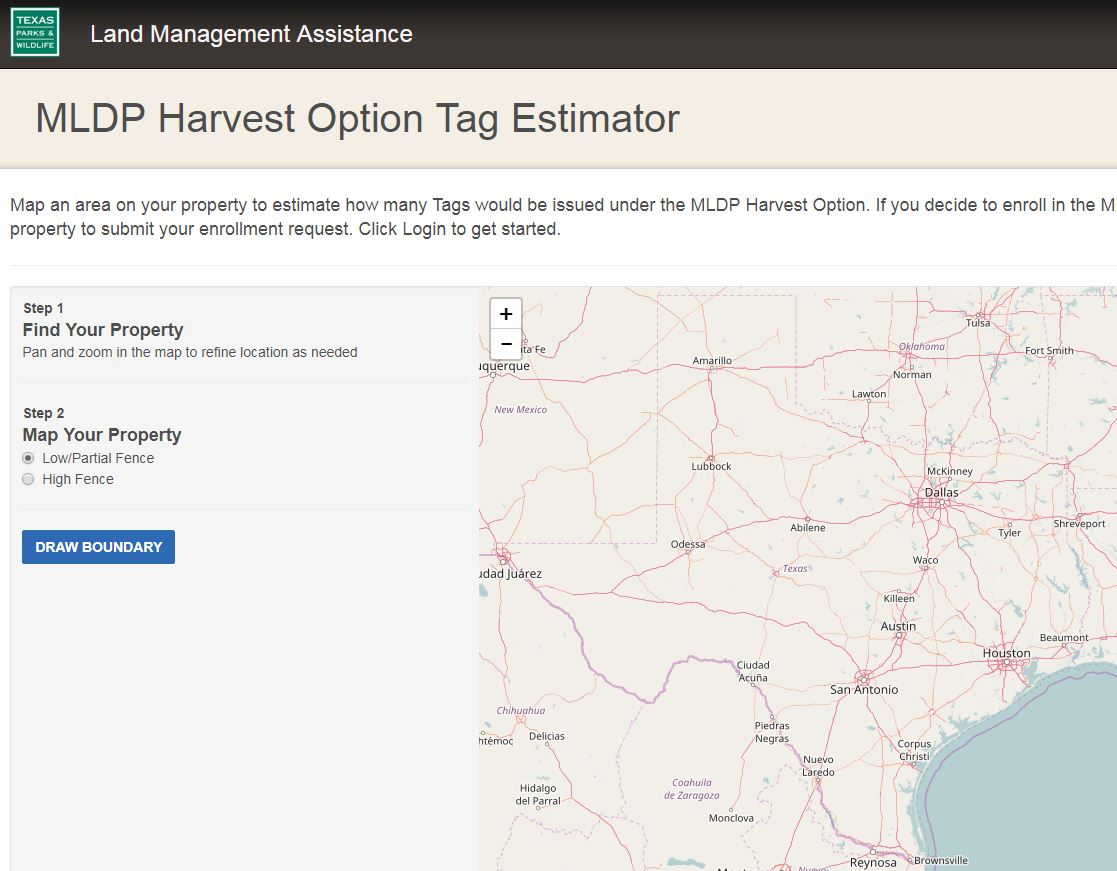 MLDP Harvest Option Tag Estimator Tool